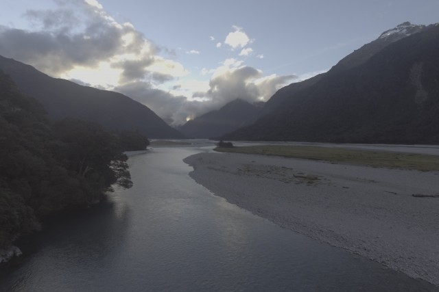Haast River South island New Zealand