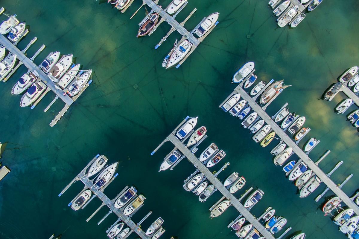 Boats in a pier in Norway