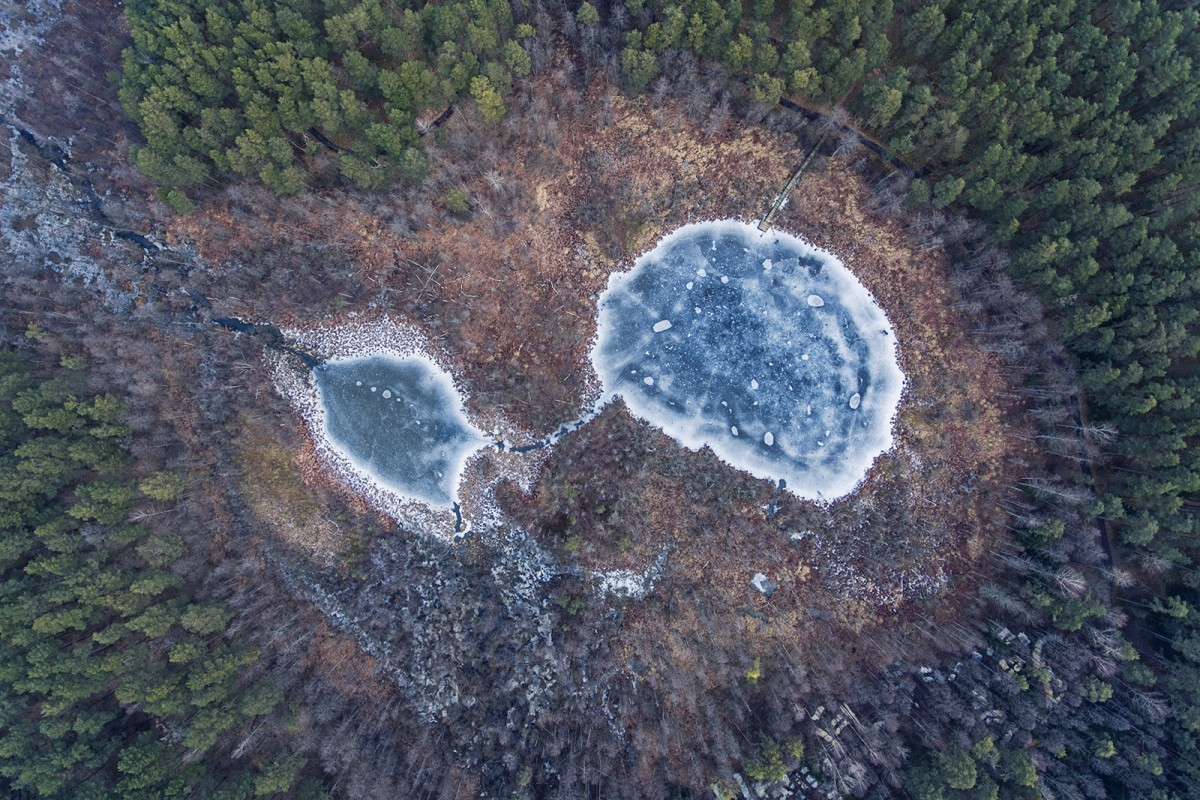 Eye shaped lake