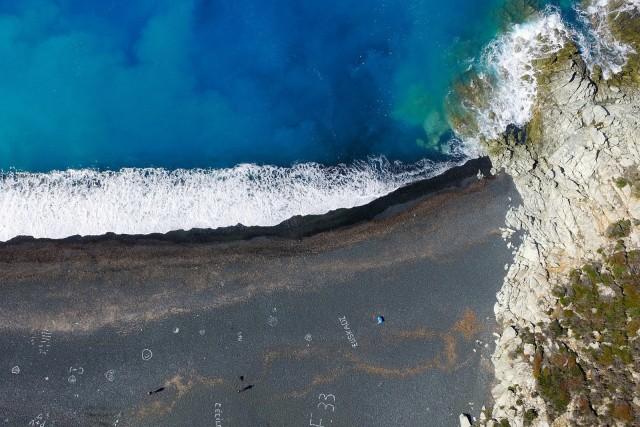 Plage de Nonza en Corse