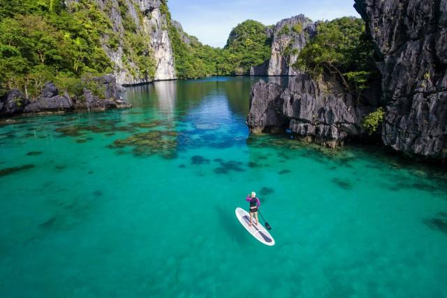 Paddleboarding in Paradise