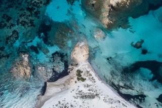 A luky rock in Capo Comino, Sardinia