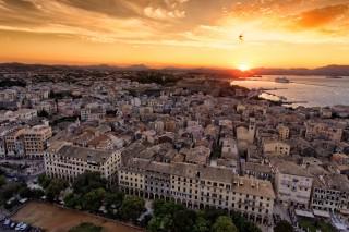 Sunset in Corfu Town