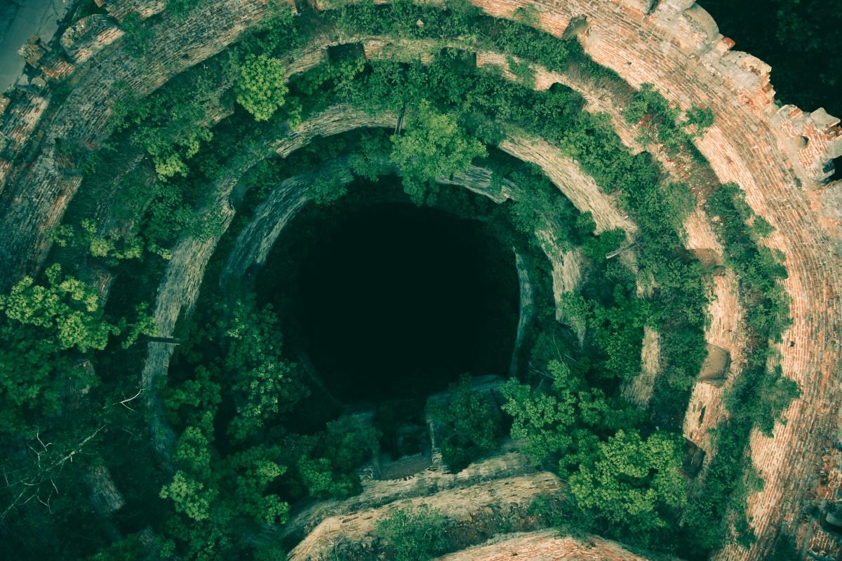Destroyed tower of Ostrog Castle