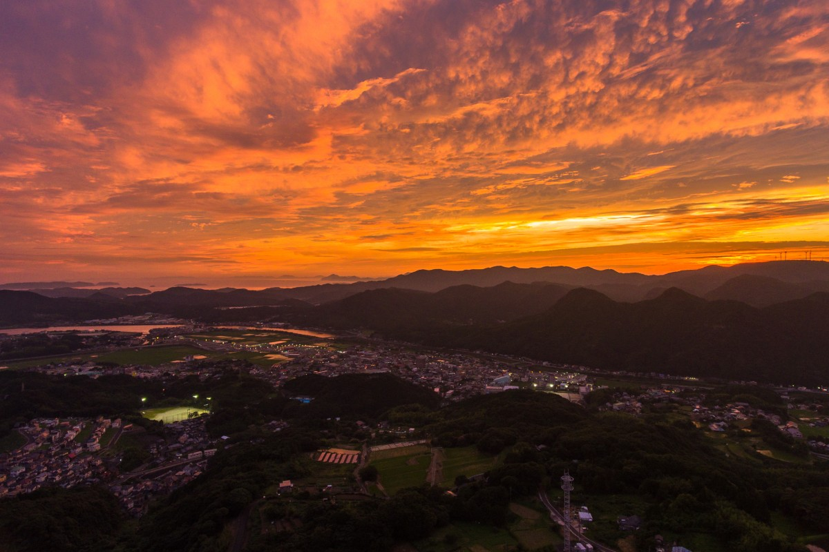 Sunset times in Saza Nagasaki Japan
