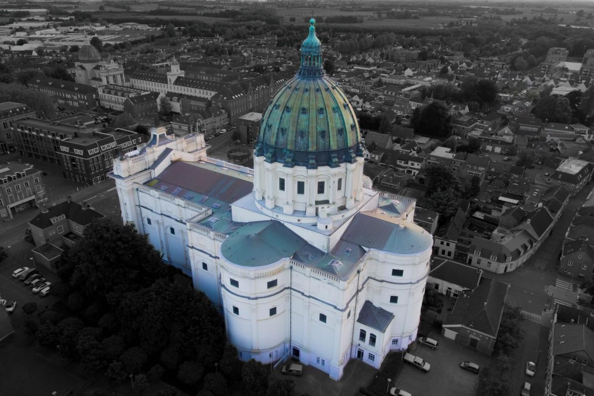 side-view Agatha and Barbara Basilica in the Netherlands (Replica of Italia)
