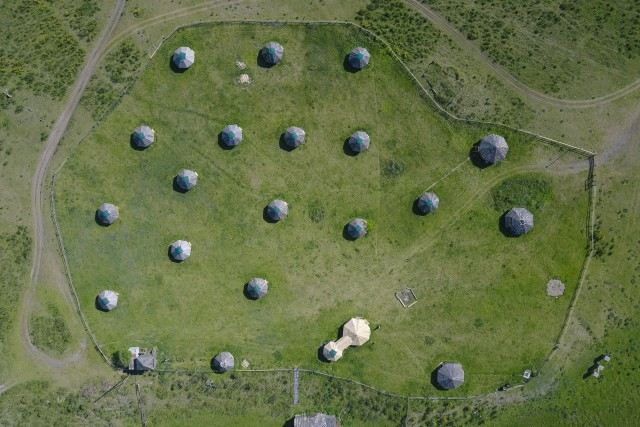Yurt from above