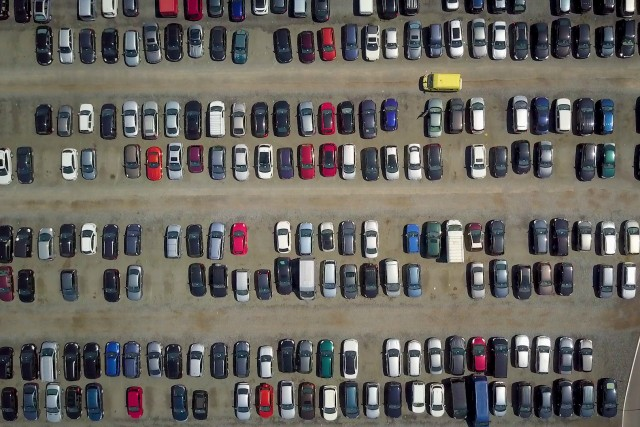 Cars Parking bird'seye vue