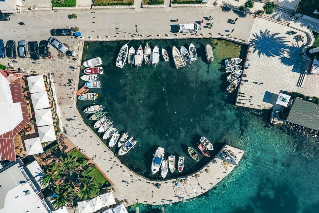The small harbour, Saranda, Albania