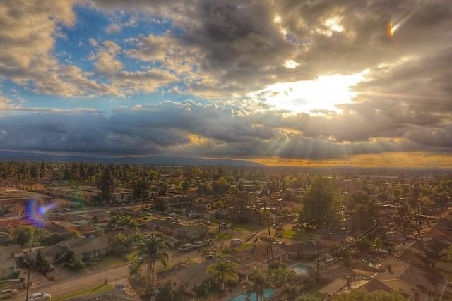 Urban after rain