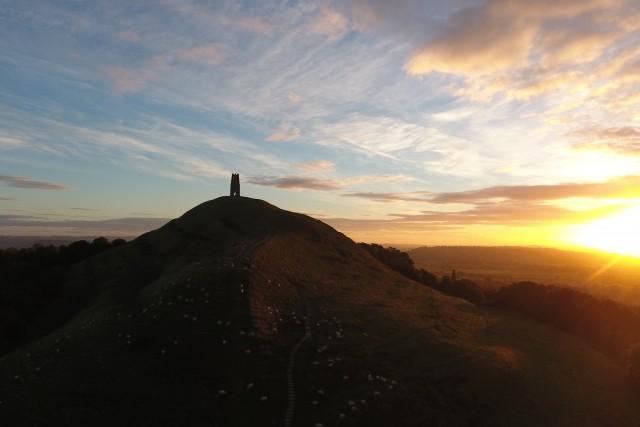 Sunrise in Glastonbury