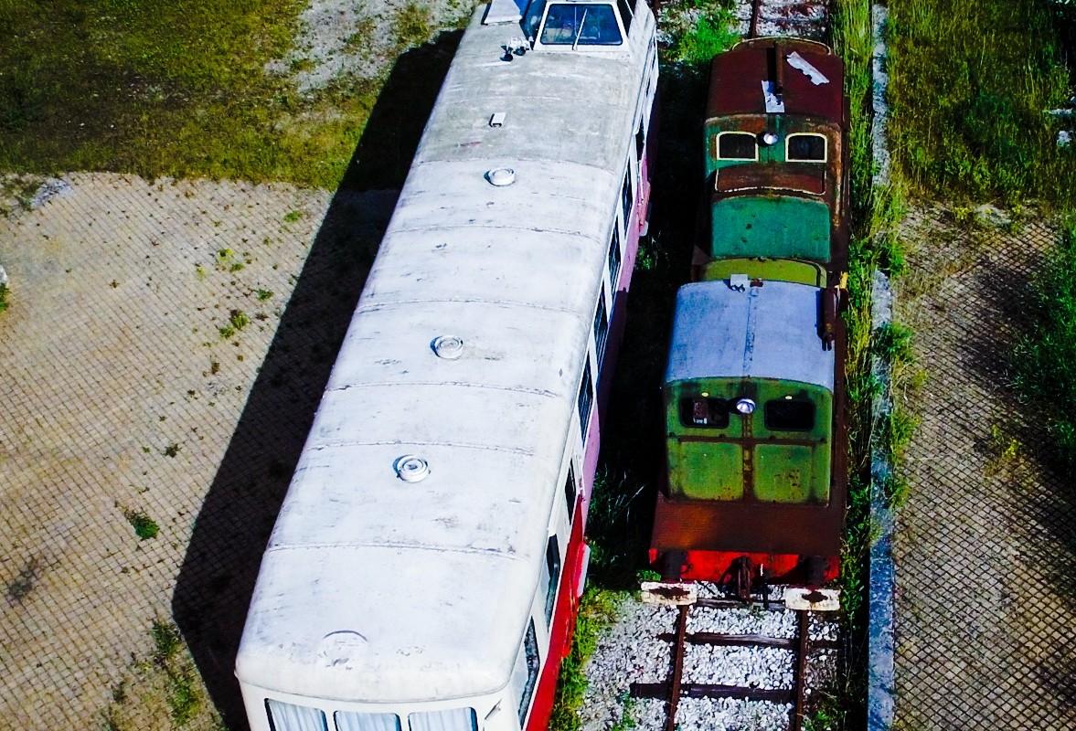 Old diesel train