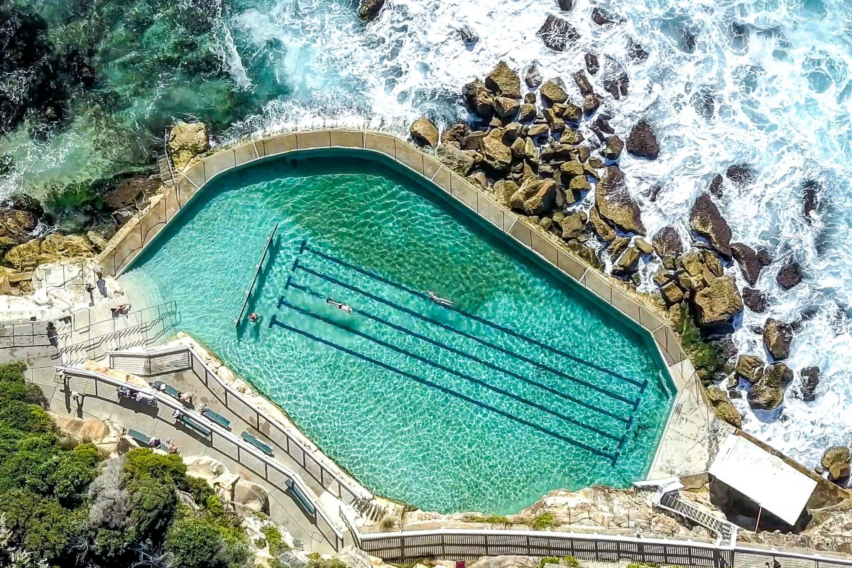 Ocean pool by the rocks, Sydney, Australia