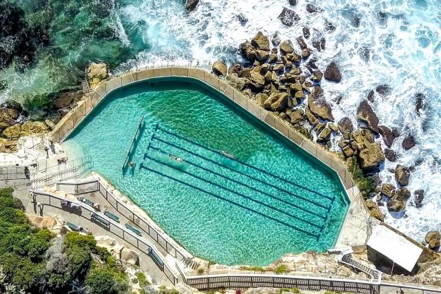 Ocean pool by the rocks, Sydney, Australia