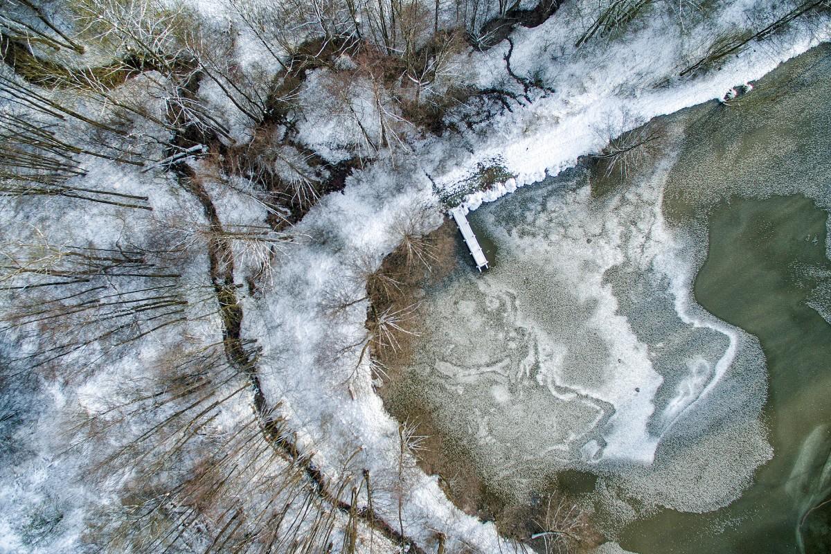 Ice lake, Germany