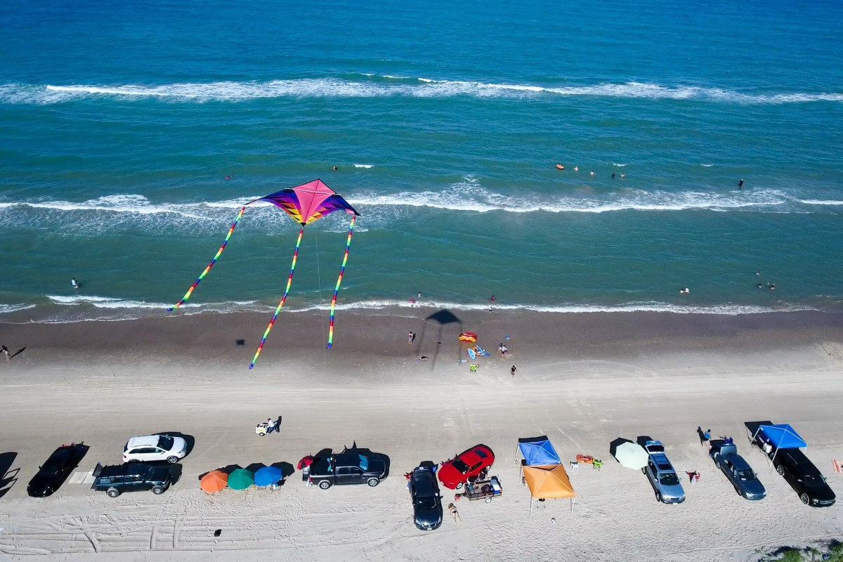 Flying with Kites at beach