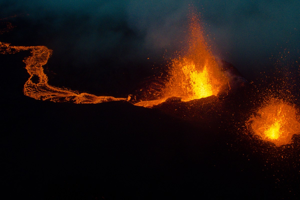 Eruption Volcanique, La Fournaise, Ile de la Réunion, France, 2016
