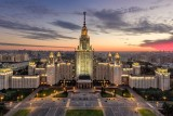 Moscow State University at sunset