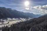 Frozen treetops in Alps