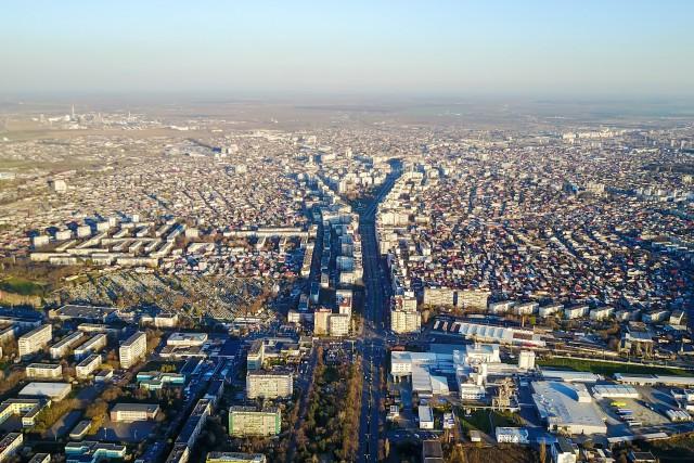 Ploiesti , Romania, aerial view