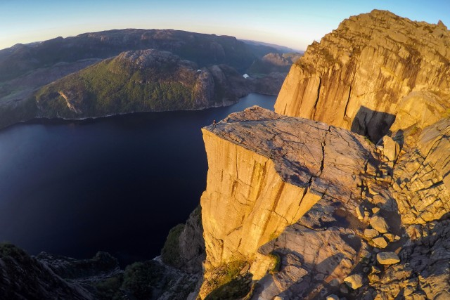 Sunrise on the top of the world / Preikestolen / Norway