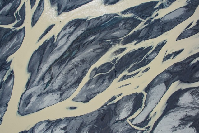 Abstract river delta…