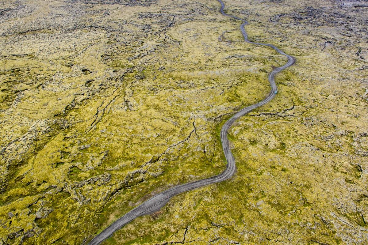 Lava field road…