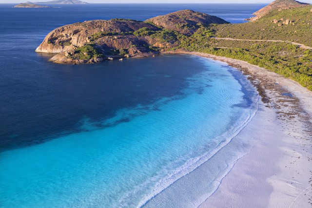 Bird's eye view of Lucky Bay, Esperance