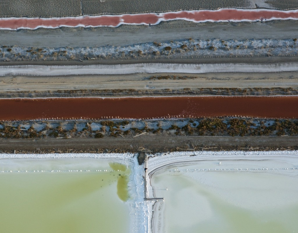 Salt ponds in Camargue