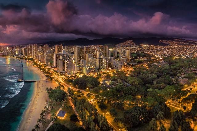 Waikiki Dusk Panorama