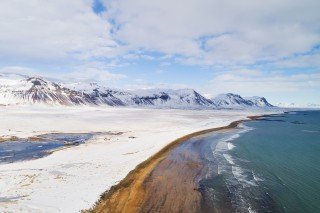 Winter beach Iceland