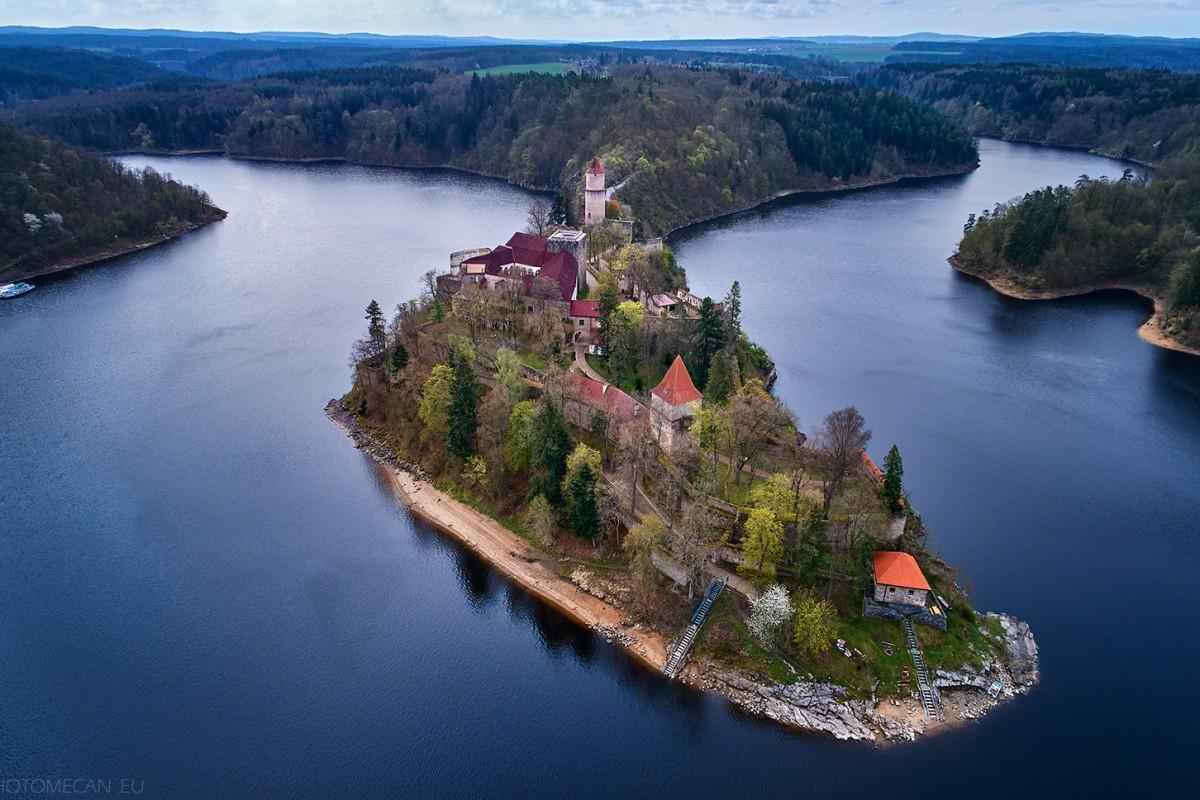 The royal castle  Zvikov in spring nature, Czechia, Europe