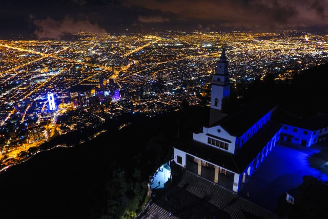 Monserrate, la terraza de Bogotá