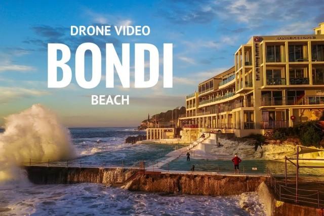 BONDI BEACH drone video AUSTRALIA