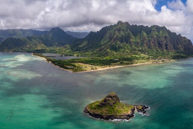 Kualoa Regional Park, Oahu, Hawaii, USA
