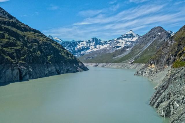 Lac des Dix à la grande Dixence (VS) (Suisse)