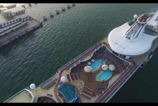 DJI Phantom 3 Pro flight over Voyager Of The Seas