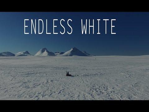 Endless white Saltfjellet – Norway by drone