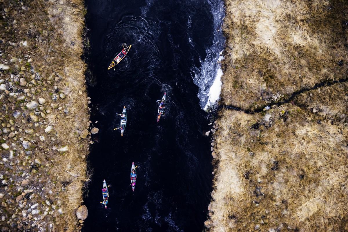 Whitewater canoeing