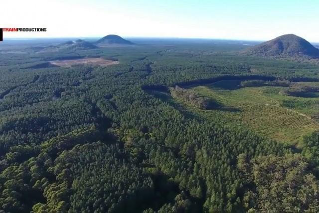 Glasshouse Mountains Lookout QLD Australia.