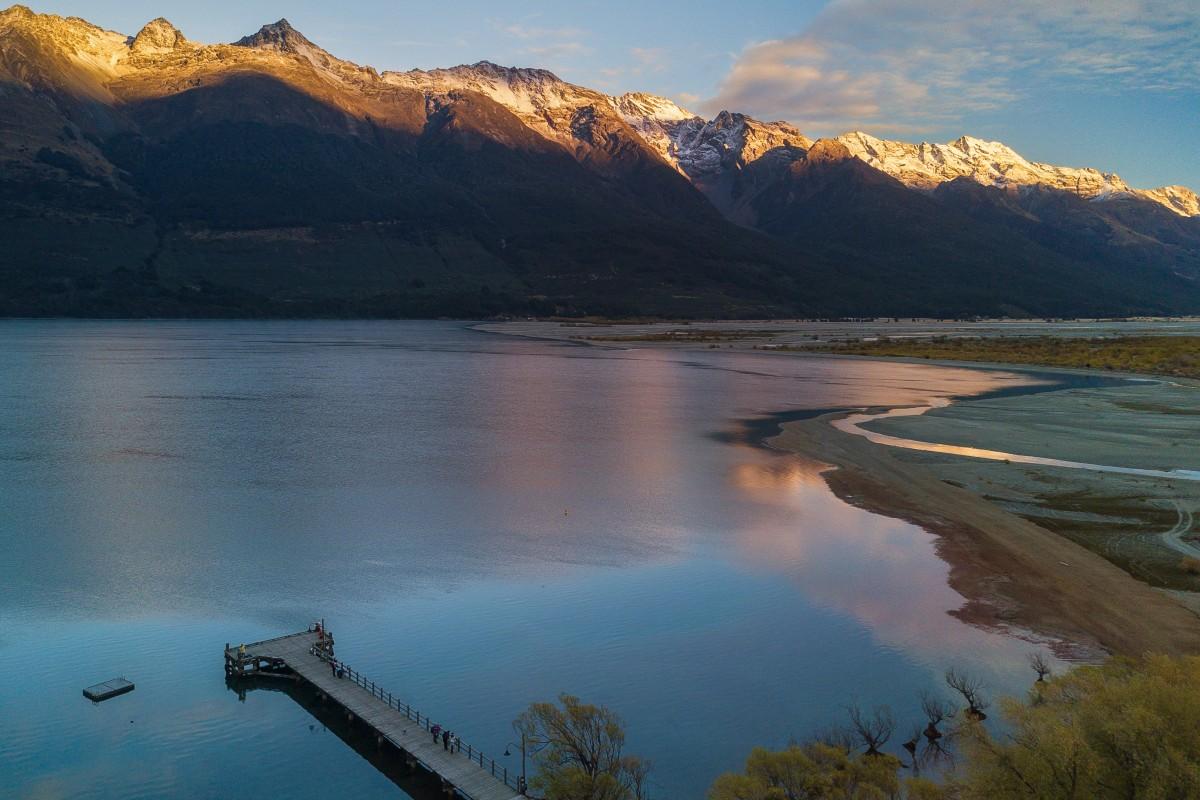 Morning at Glenorchy Wharf, Glenorchy, New Zealand