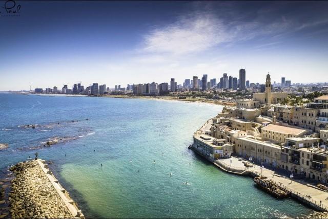 Israel Yaffo Tel Aviv AERIAL DRONE VIDEO in 4K
