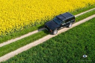 Jeep XJ in rape field