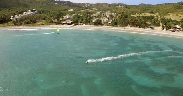Kite Surfers in St.Lucia, Caribbean