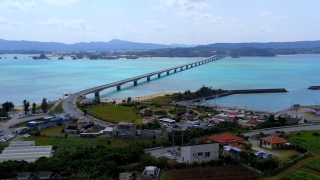 Kouri Island & bridge at okinawa