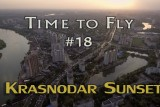 Krasnodar sunset aerial (part 1). DJI PHANTOM 4 drone video