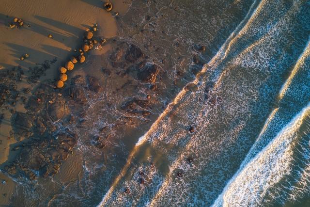 Top Down – Moeraki Boulders at Sunrise