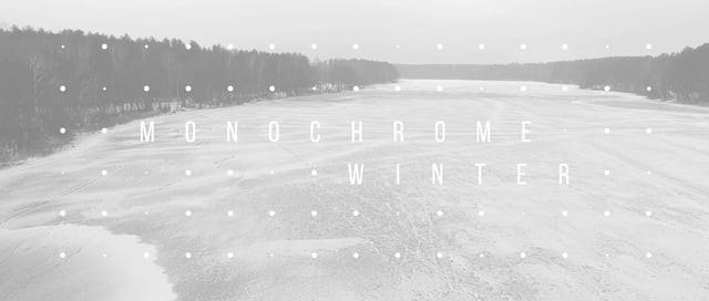 Monochrome Winter Aerial Reel