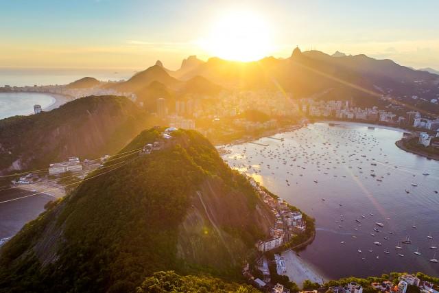 Rio de Janeiro golden hour.