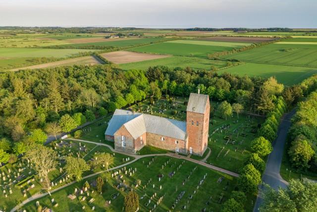 Die Kirche von Süderende auf Föhr